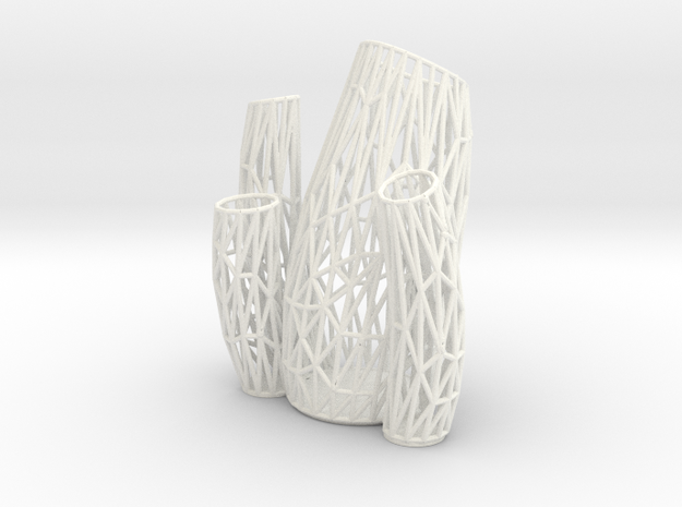 Porifera Vase / Holder Wired (Big) in White Processed Versatile Plastic