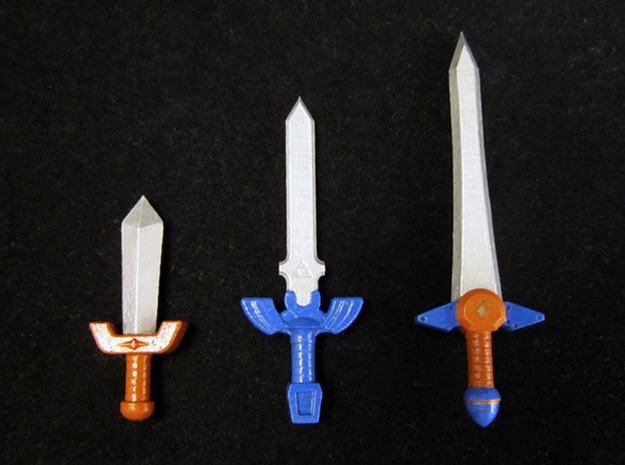 Time Sword Pack in Smooth Fine Detail Plastic