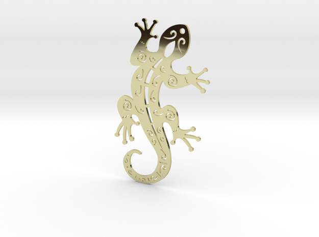 Gecko  in 18k Gold Plated Brass