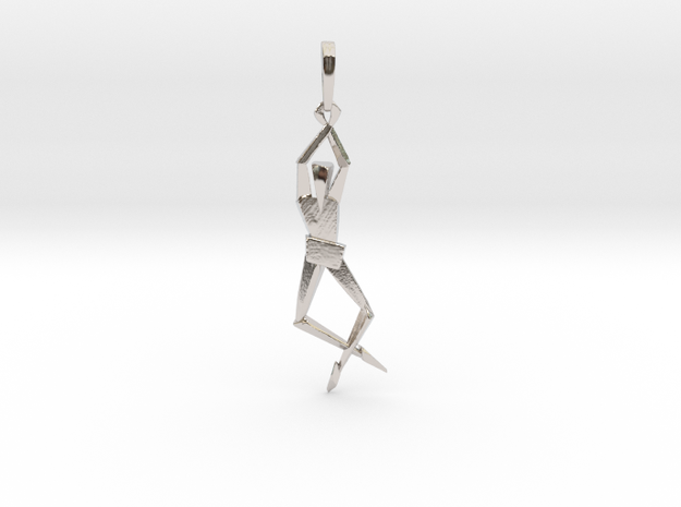 HUMANIS ALPHA ::: PENDANT in Rhodium Plated Brass