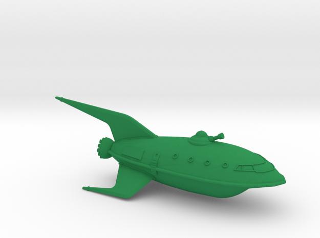 1/537 Futurama Planet Express (WSF Hollow) :-) in Green Strong & Flexible Polished