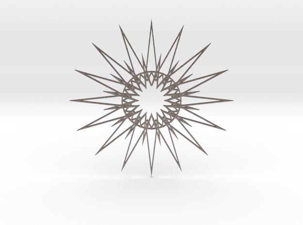 Arabesque: Starfire in Polished Bronzed Silver Steel