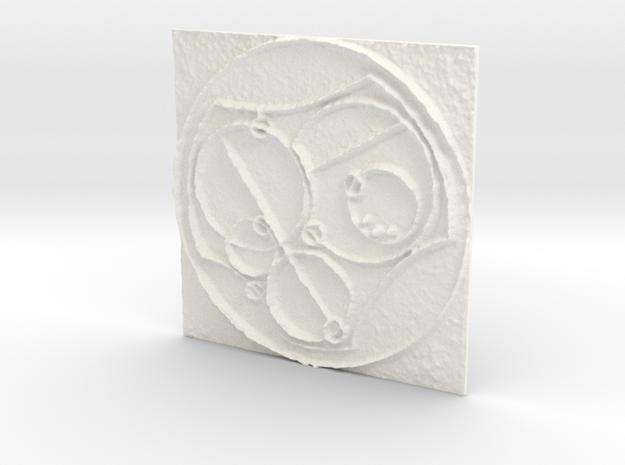 Gallifreyan  in White Processed Versatile Plastic