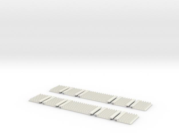 Polymer Anti-trespass Panels (Streamline) in White Natural Versatile Plastic