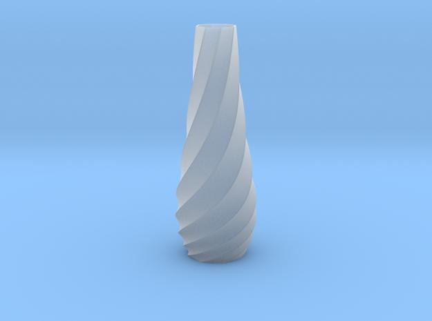 Spiral Vase in Smooth Fine Detail Plastic