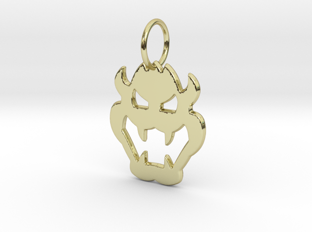 Bowser Pendant in 18k Gold Plated Brass
