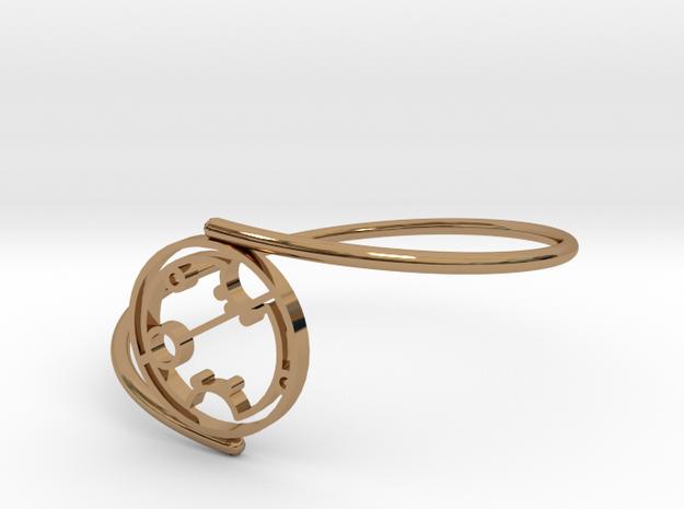 Sharon - Bracelet Thin Spiral in Polished Brass