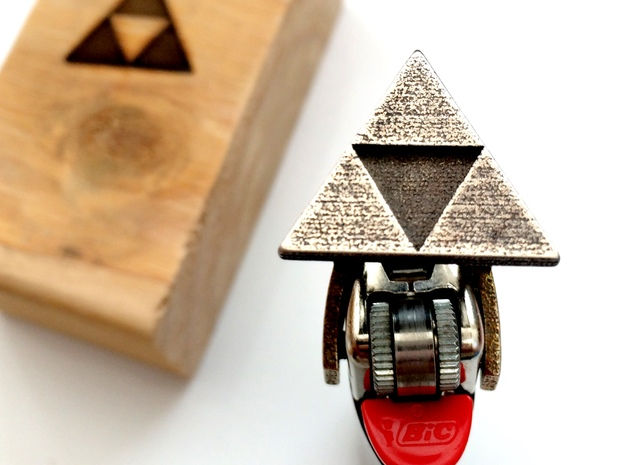 Legend of Zelda - Triforce Lighter Brand in Stainless Steel