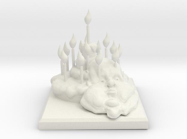 Pie Monument in White Natural Versatile Plastic