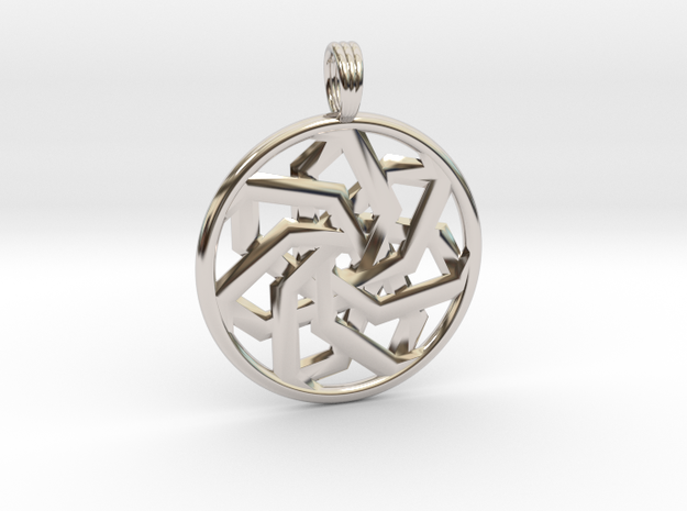 PEACEFUL CLARITY in Rhodium Plated