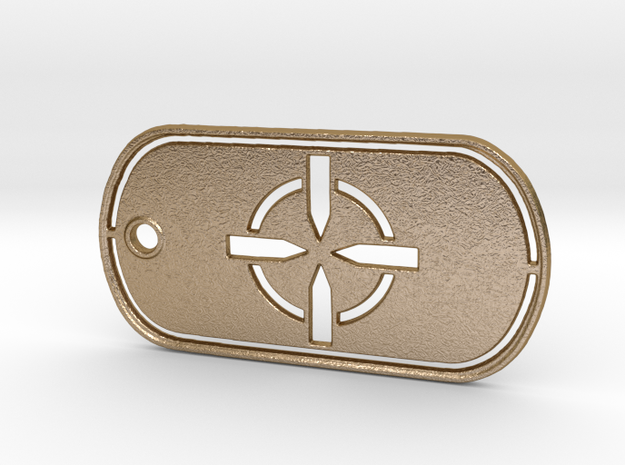 Battelfield 4 Ultimate Recon Dog Tag in Polished Gold Steel