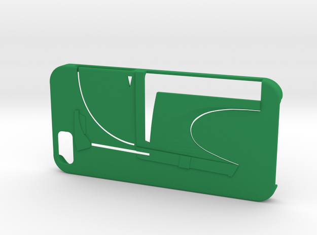Bounty Hunter Iphone 6 Case V2 in Green Strong & Flexible Polished