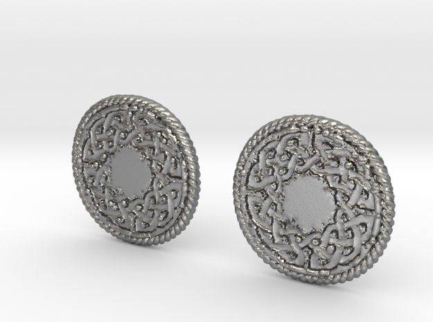 Round Knot Cufflinks in Natural Silver