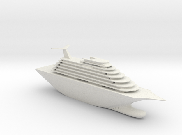 Toy Cruise Ship 11In in White Natural Versatile Plastic