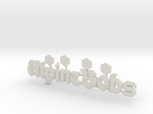 "Logo ""Alpine Bobs"" für 1:87 (H0 scale) in White Natural Versatile Plastic"