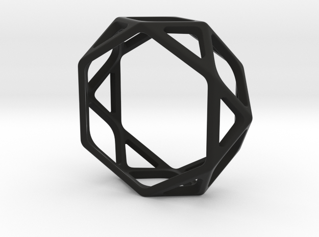 Structural Ring size 10,5 in Black Natural Versatile Plastic