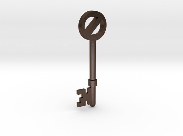 Return To Oz Key 3d printed Printed in Polished Bronze Steel.