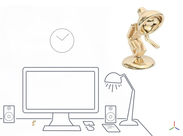 "Lala says, ""Shake hand with me"" - Desktoys in 14K Yellow Gold"