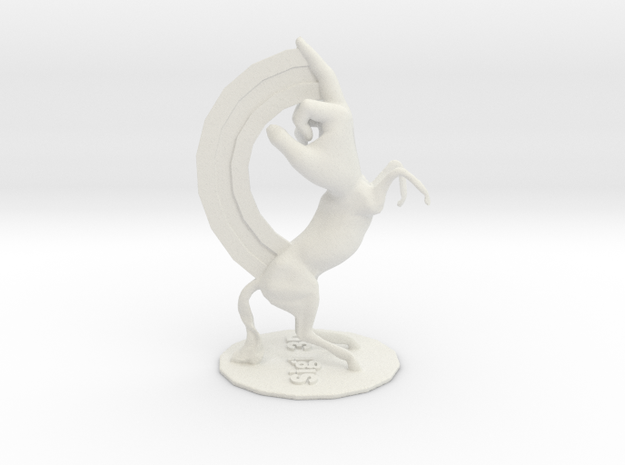 F-Unicorn in White Natural Versatile Plastic