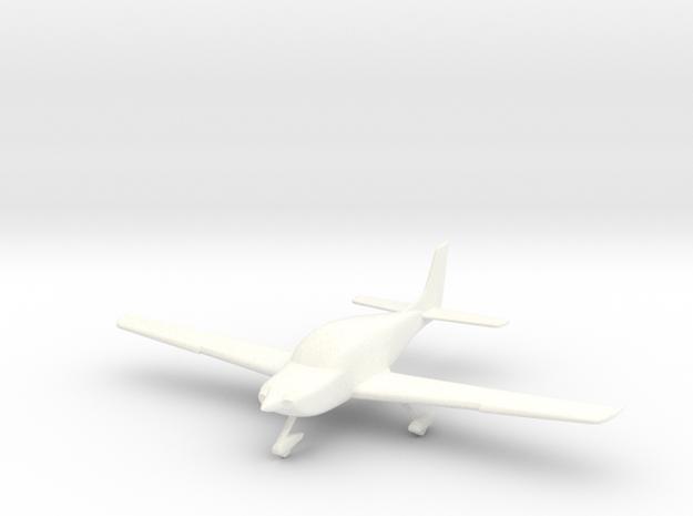 Cirrus SR22 Aircraft in 1/96 scale in White Processed Versatile Plastic