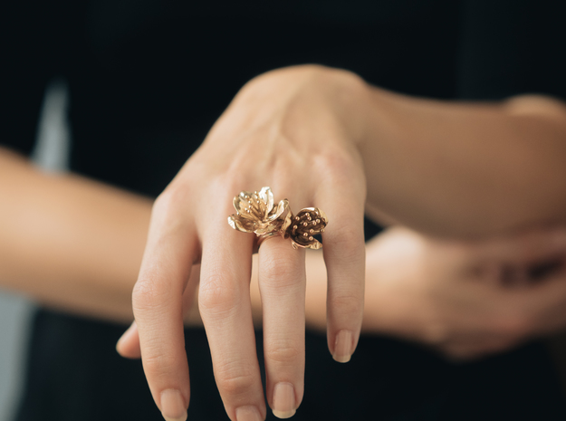 Double Cherry Blossom Ring
