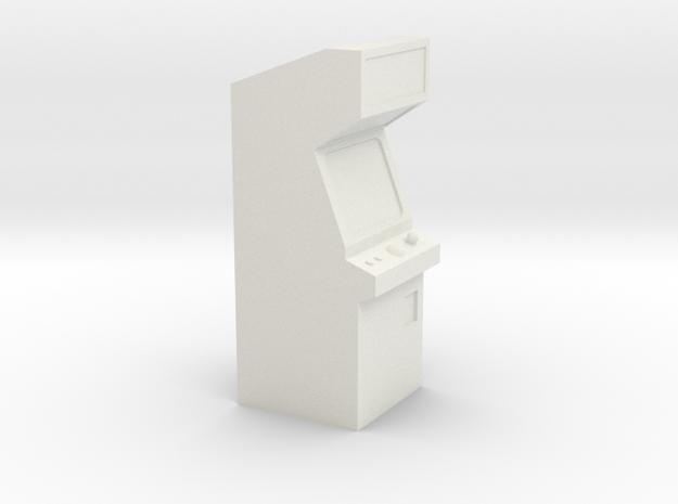 Video Arcade Machine - HO 87:1 Scale in White Natural Versatile Plastic