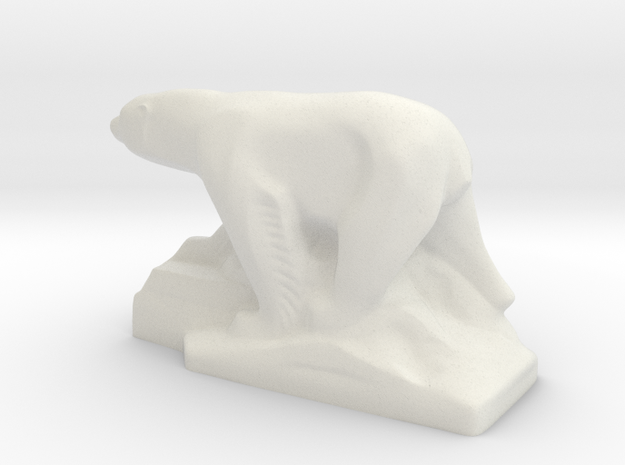 PolarBear in White Natural Versatile Plastic