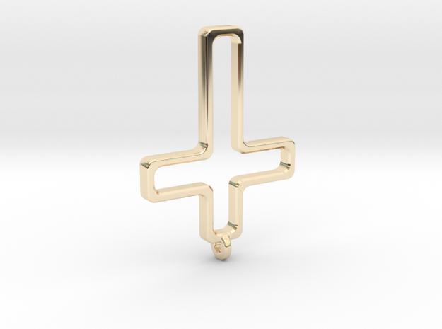 Hollow Cross in 14K Gold