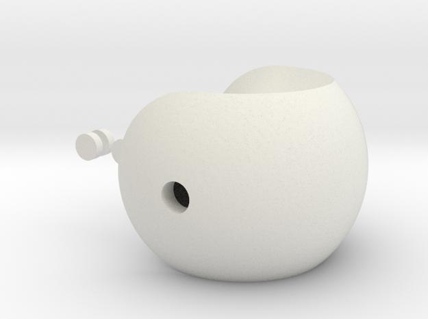 Ying Yang in White Natural Versatile Plastic