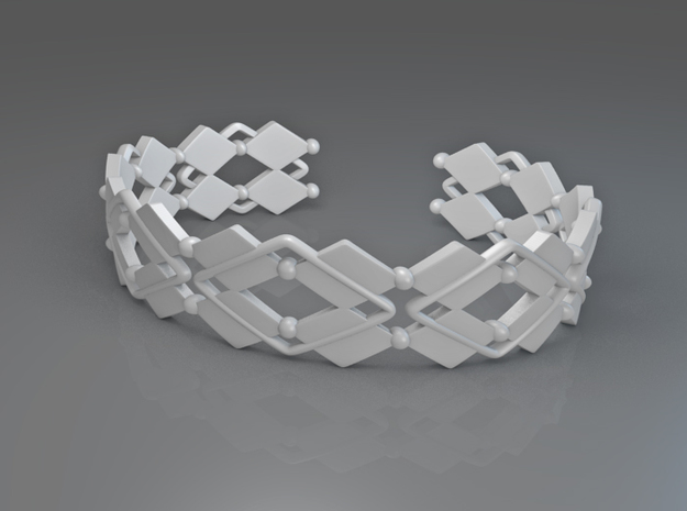 Diamond and pearls bracelet 3d printed Diamond and pearls bracelet
