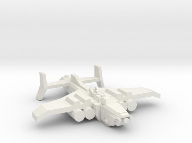 [5] Ground Attack Bomber in White Natural Versatile Plastic
