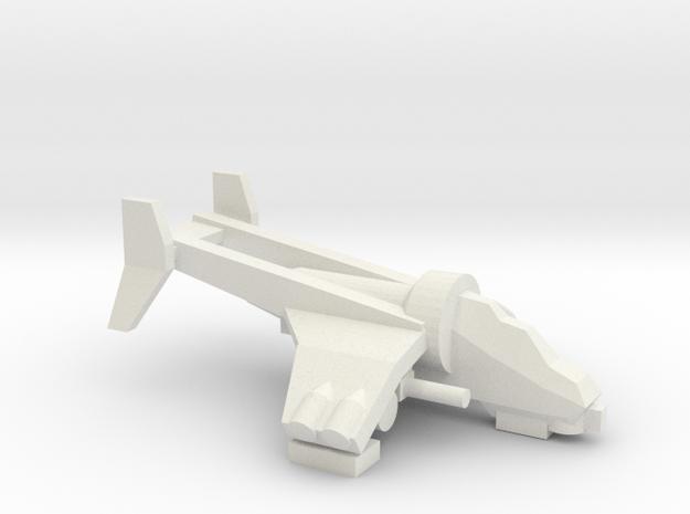 [5] Gunship in White Strong & Flexible