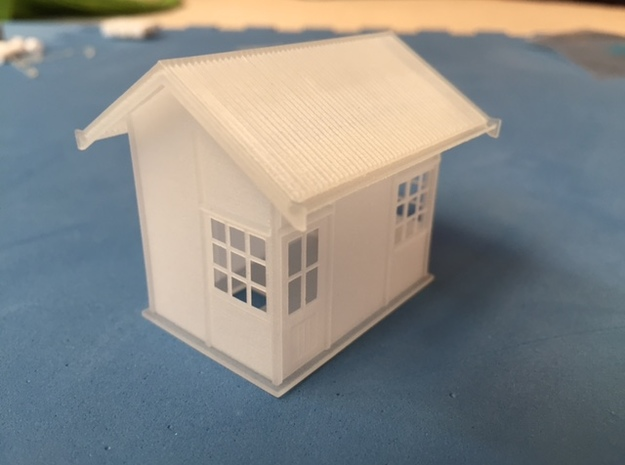 1929 point lever relay hut HO scale  in Smooth Fine Detail Plastic