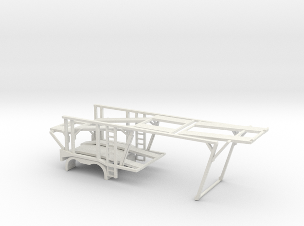 1/50 Car Hauler Front in White Strong & Flexible