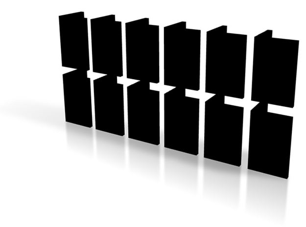 zz - Stand, Ramp, Multi 12, Black 3d printed