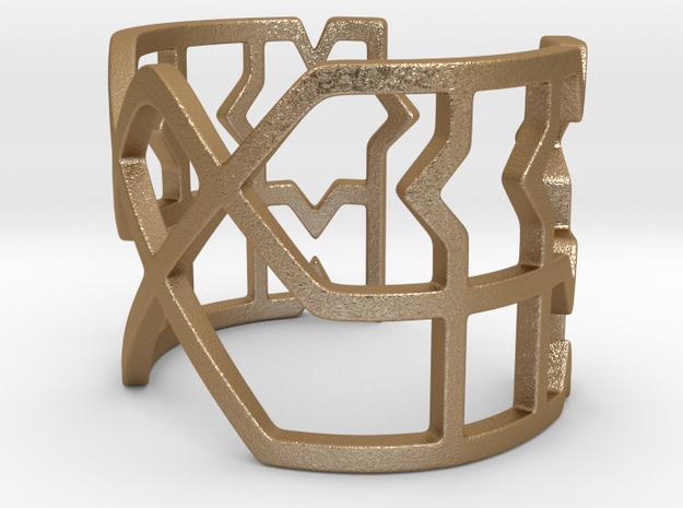 Moroccan Bracelet in Matte Gold Steel