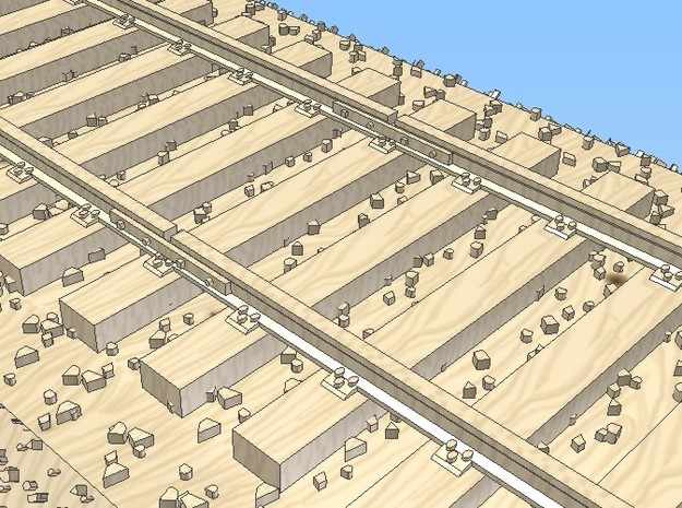 1-72 Rail Standard Gauge Section 3d printed