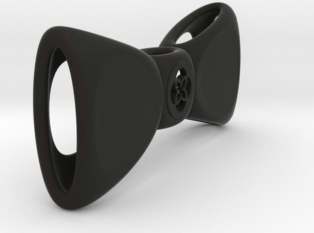 TU Bow Tie Closed in Black Natural Versatile Plastic