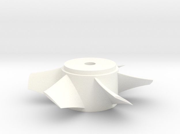 Ducted Fan 90mm rotor left turn in White Processed Versatile Plastic
