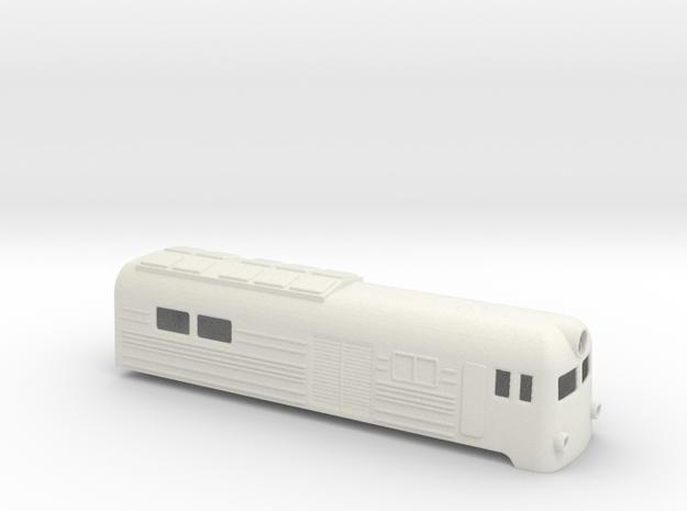 Soviet VL8 electric locomotive shell in White Strong & Flexible