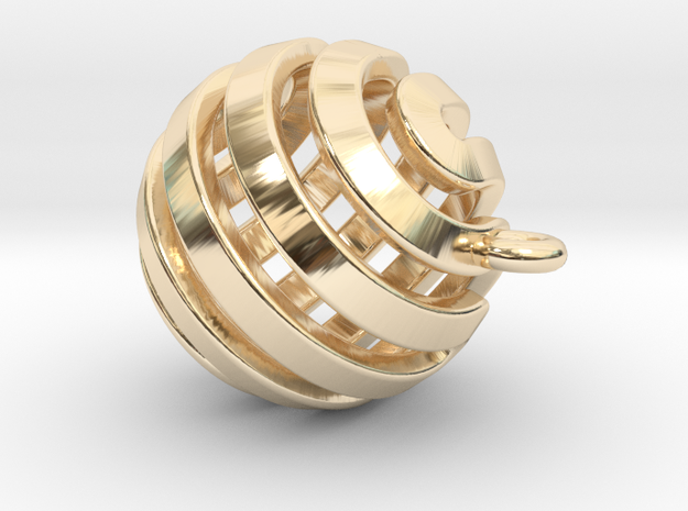 Ball-small-14-4 in 14k Gold Plated Brass