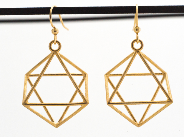 Hexagram in Raw Brass