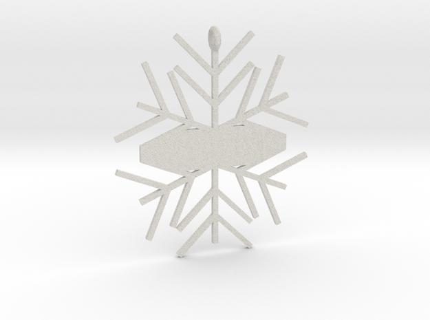 Snowflake #1 in Full Color Sandstone