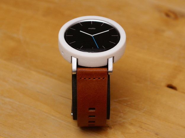 Moto 360 Gen 2 Bumper Case - 42mm Mens Short in White Strong & Flexible
