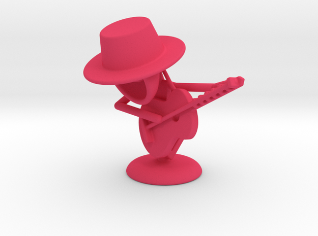 """Lala """"Playing Guitar"""" - DeskToys in Pink Strong & Flexible Polished"""