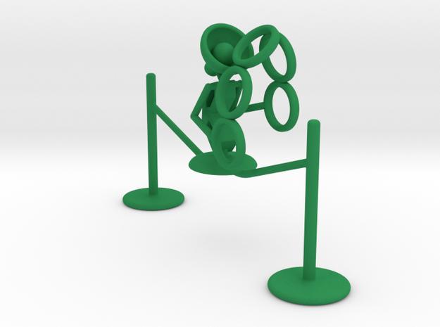 """Lala """"Walking in rope & throwing rings"""" - DeskToys in Green Processed Versatile Plastic"""