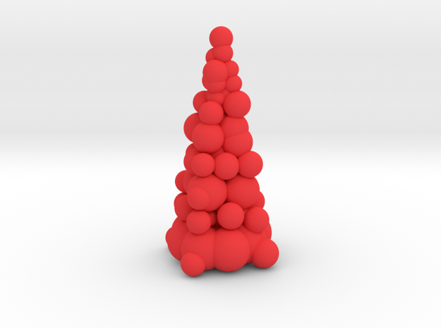 Christmas Tree Sculpture in Red Processed Versatile Plastic