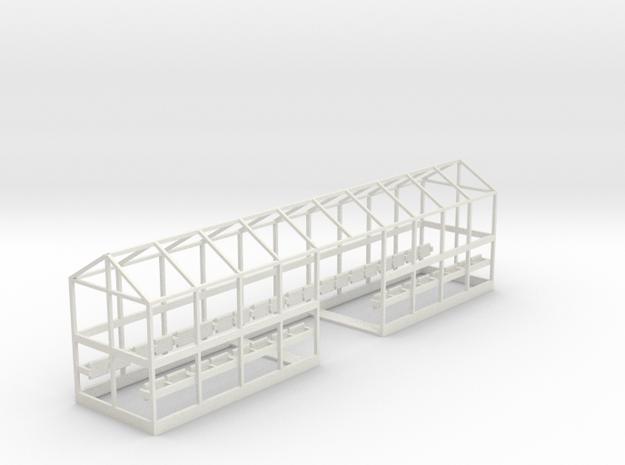 C-01L Dover Priory Shelter - Long Version in White Natural Versatile Plastic