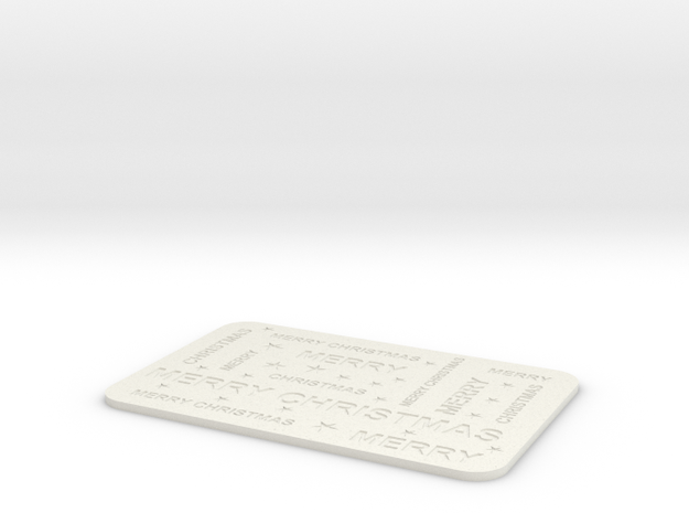 Christmas placemat in White Natural Versatile Plastic