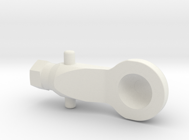 Hex Arm Socket V 3 in White Natural Versatile Plastic